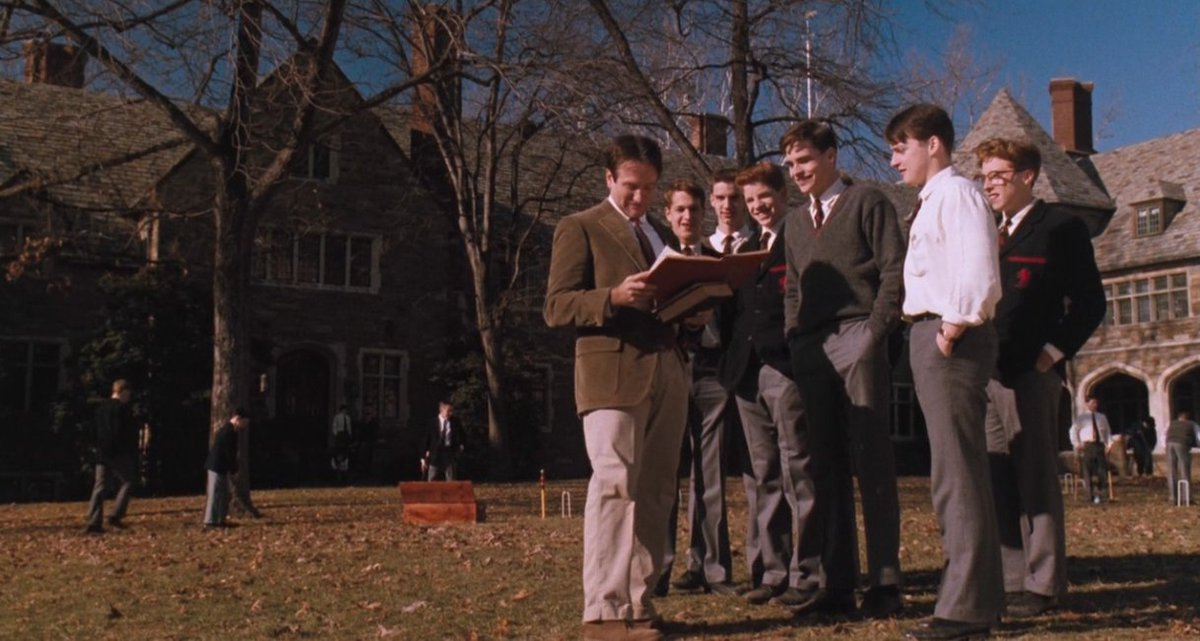 """""""Carpe Diem. Seize the day, boys. Make your lives extraordinary.""""   Dead Poets Society (1989), by Peter Weir <br>http://pic.twitter.com/BbPLnLxc6Q"""
