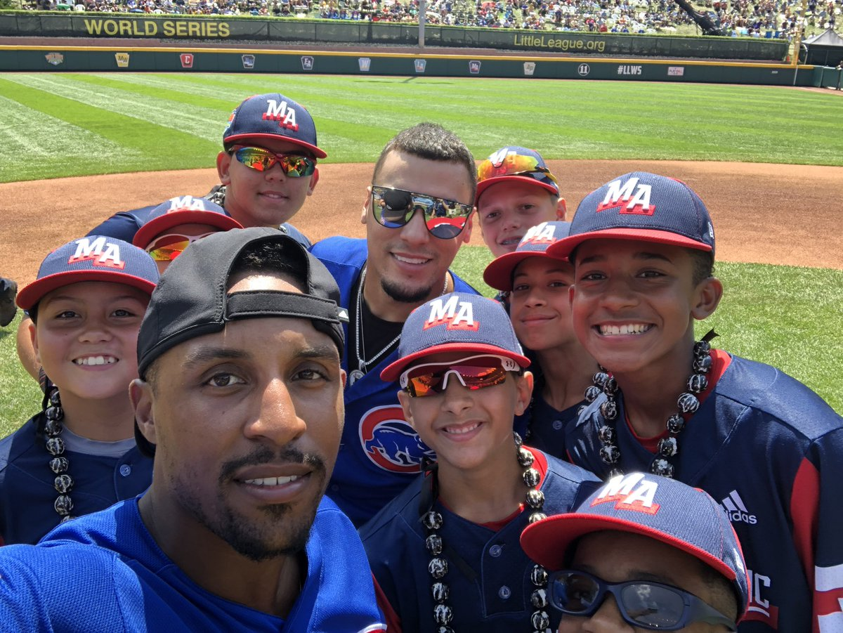 Cubs become kids again with Little Leaguers