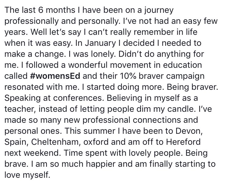 I posted this earlier on fb and wanted to share. Can't tag some of the people I want to. Twitter has had a summer blip but has genuinely made me who I am now. Thank you to all the people who kept me on track and happy. From a like to a comment to a gif to a DM. You are all lovely