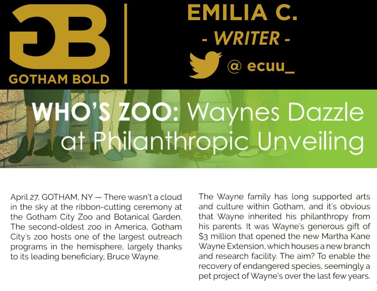 BatFam Fashion Zine - CONTRIBUTOR ANNOUNCEMENTS