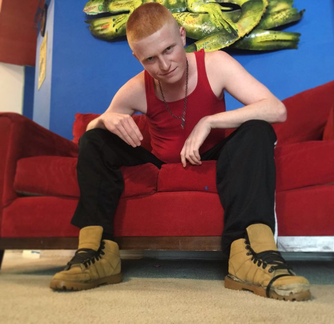 These boots is dirty. Who's gonna clean em? #gay #GingerHair #alpha #cashdom #boy #Feet #boots https://t