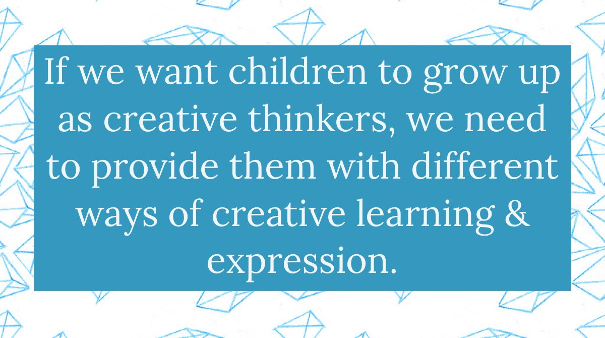 How are we growing creative thinkers? #ecechat #lisdpk #earlyed #edchat #leadupchat #parenting