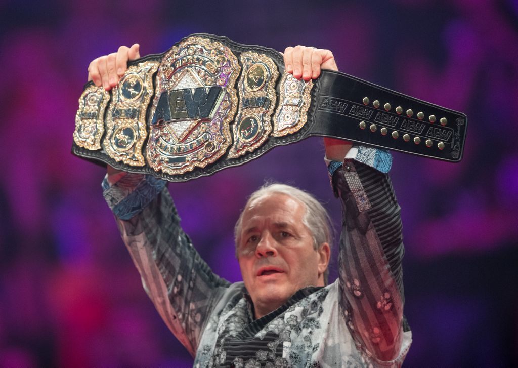 Who walks out of #AEWAllOut with this gorgeous #AEW World Championship displayed at #AEWDoN by @BretHart ?<br>http://pic.twitter.com/3FFSfsMiIf