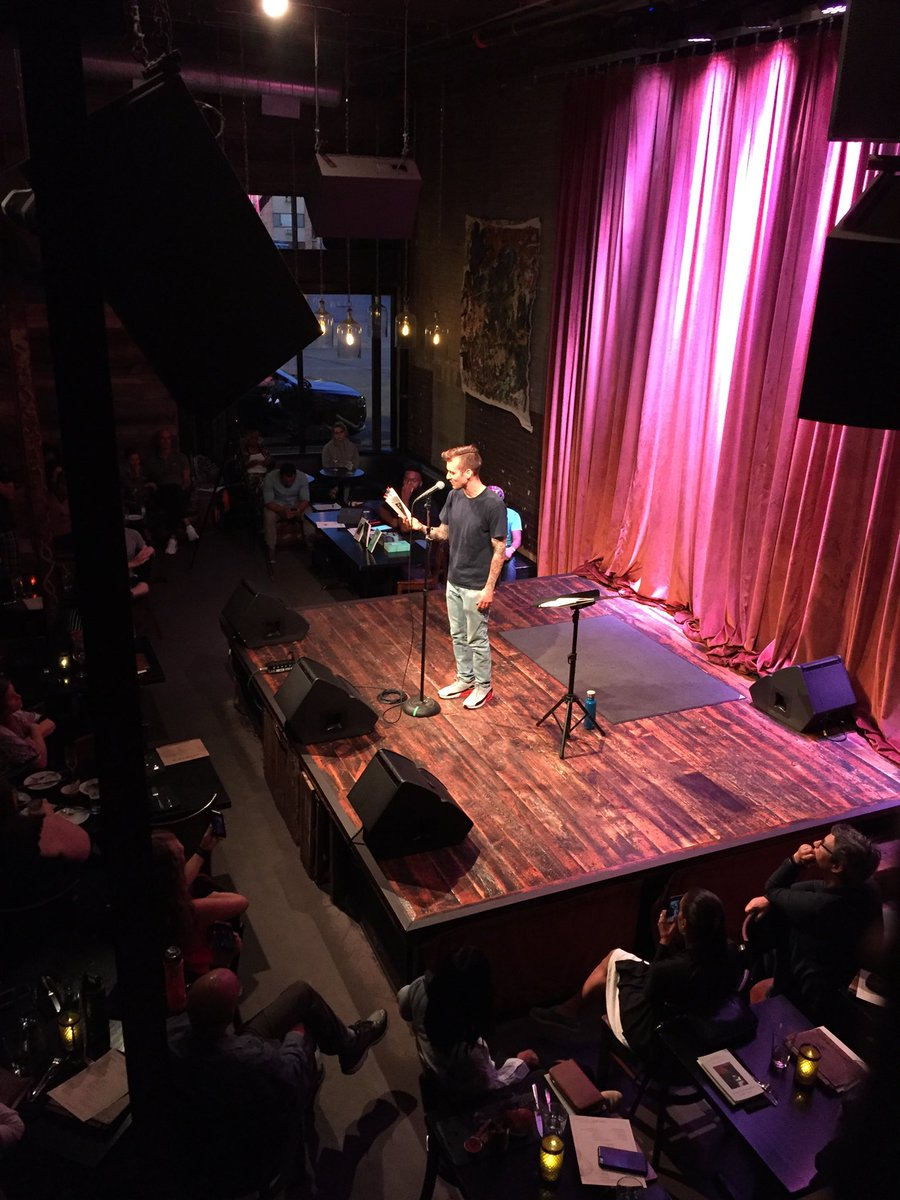 Mike Lee reading his poems at the @icehousempls