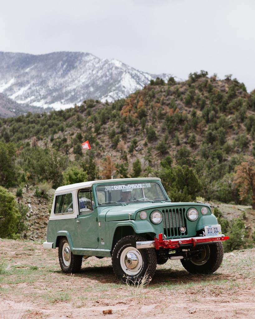 Don Scott strikes the perfect balance of modern efficiency with classic looks. See the Cummins Commando: A diesel-swapped, frame-up restoration of a 1972 Jeepster Commando. #BuiltOnBFG #BFGGarage #Jeepster