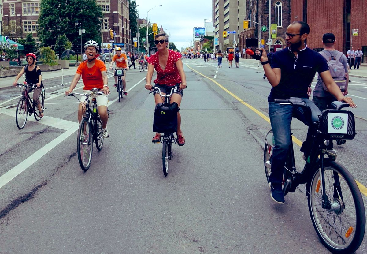 Thank you @kristynwongtam !!  @OpenStreetsTO transforms Toronto into a peaceful, vibrant, human scale and provides safe streets for all ages & abilities.   We need regular #OpenStreetsTO throughout the year! I can imagine cross country skiing on Yonge - can't you @shawnmicallef ?<br>http://pic.twitter.com/xi3CObCzQH
