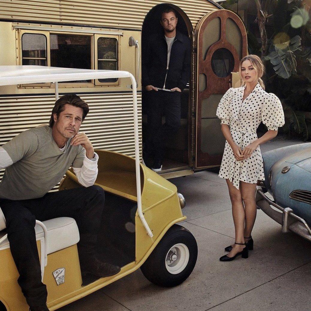 Margot Robbie, Leonardo DiCaprio and Brad Pitt by Art Streiber