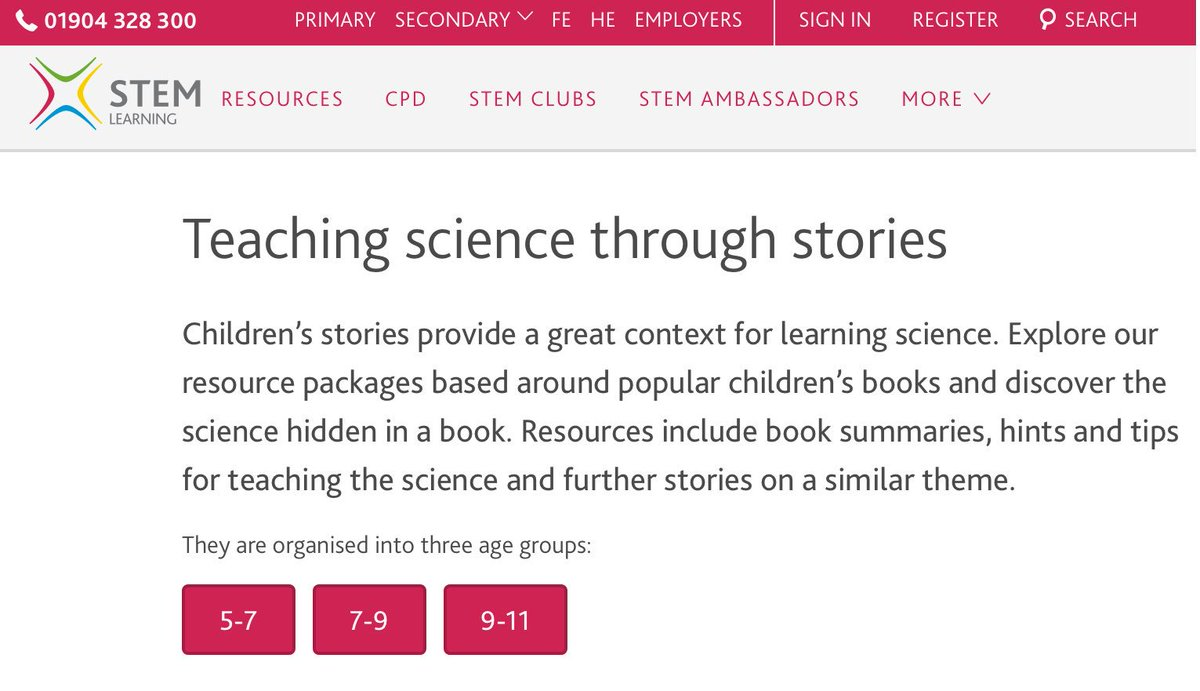 Teaching Science through stories stem.org.uk/teaching-scien…