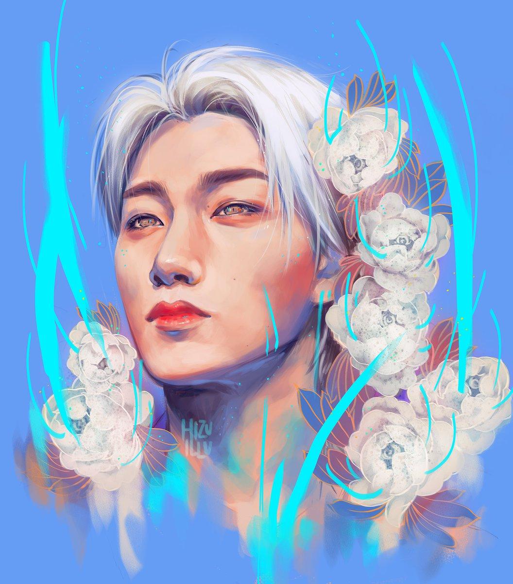 Flowery Choi San! I hate painting flowers with a passion  #ATEEZ #ATEEZFanArt #kpop  #kpopfanart #art #painting #choisan #illustration #flowers<br>http://pic.twitter.com/aqFYerhRU6