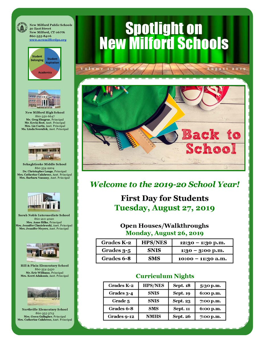 The August issue of Spotlight on New Milford Schools is ready for viewing: images.pcmac.org/Uploads/NewMil…