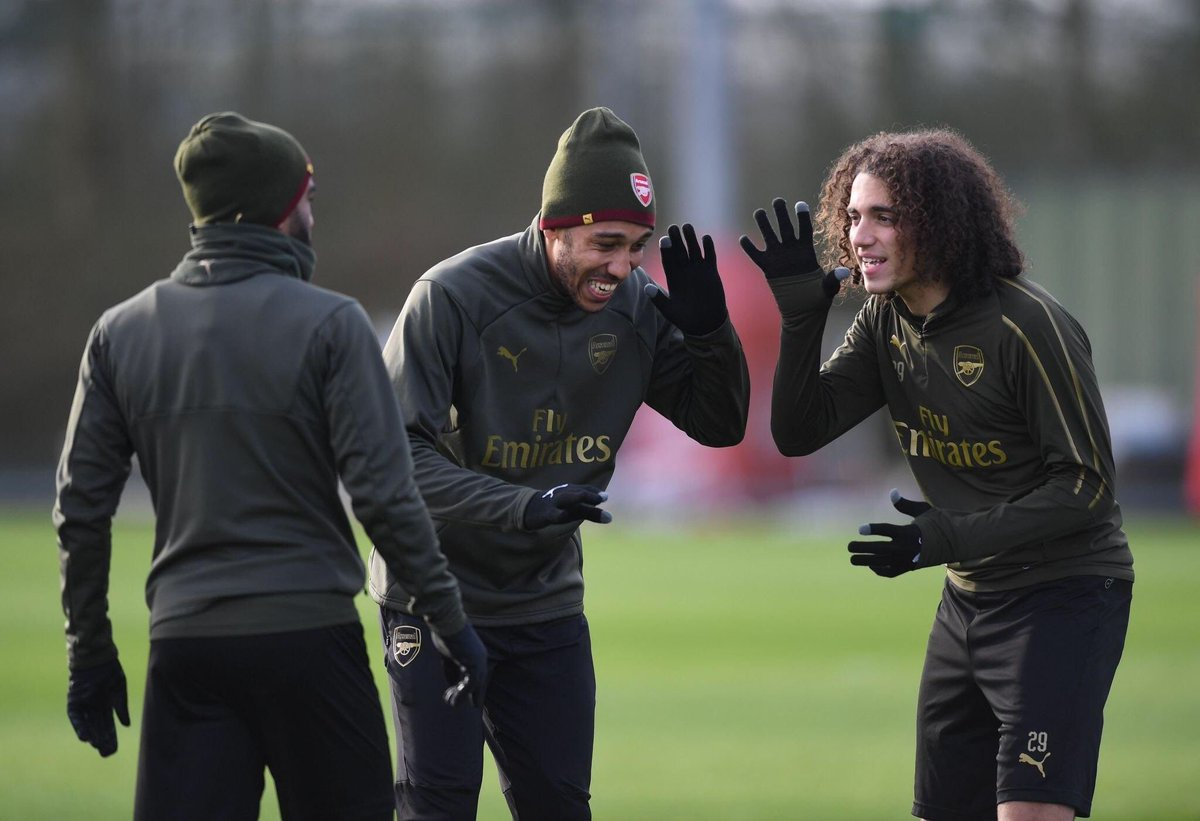 """Auba gives me a little punch on my left shoulder every morning, and Lacazette, every morning. They are really important to me, like two big brothers ever since I arrived. They made it really easy for me, on the pitch and off of it. They are super guys.""  - Matteo Guendouzi <br>http://pic.twitter.com/Mv3b67AD5q"