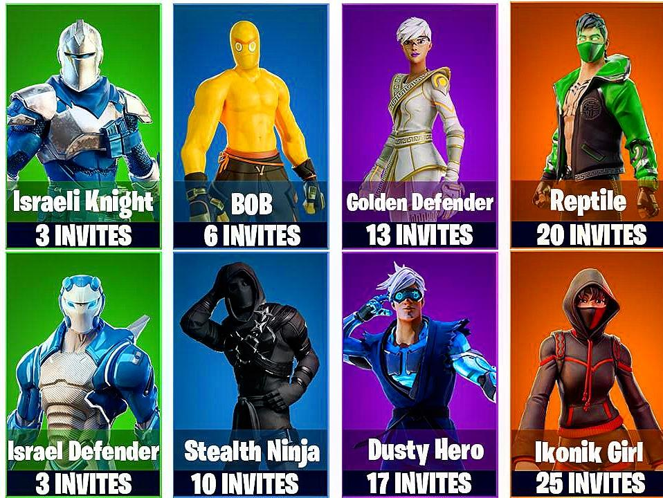 Which customized skin/outfits would you pick? Made by @Thip_dzn whuch will it be?? #fortnite #epicgames #customizedskins #outfits #israeliknight #bob #goldendefender #reptile #israeldefender #stealthninja #dustyhero #ikonikgirl @FortniteGame @EpicGamespic.twitter.com/txezVy2M9e