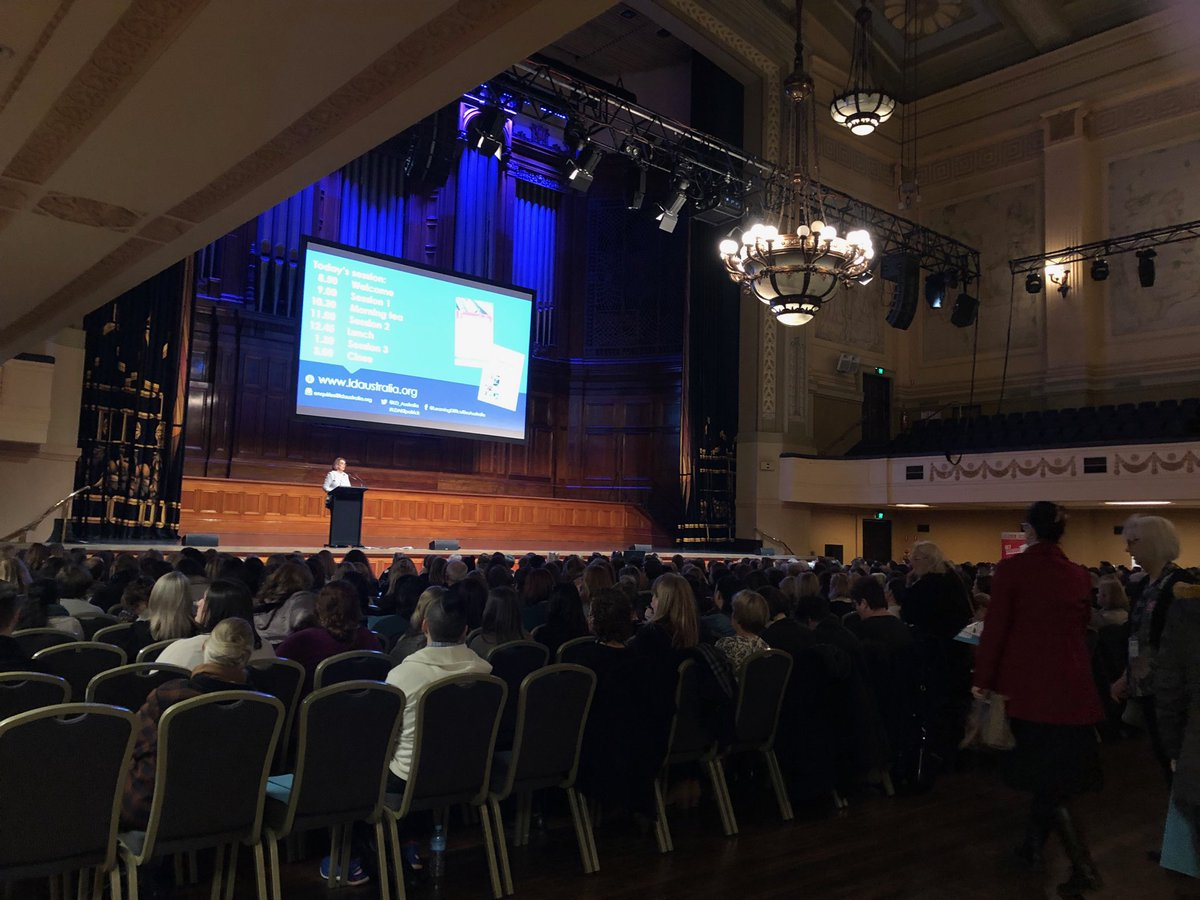 Prof Pamela Snow welcomes us all to the glorious Melbourne Town Hall #LDAKilpatrick