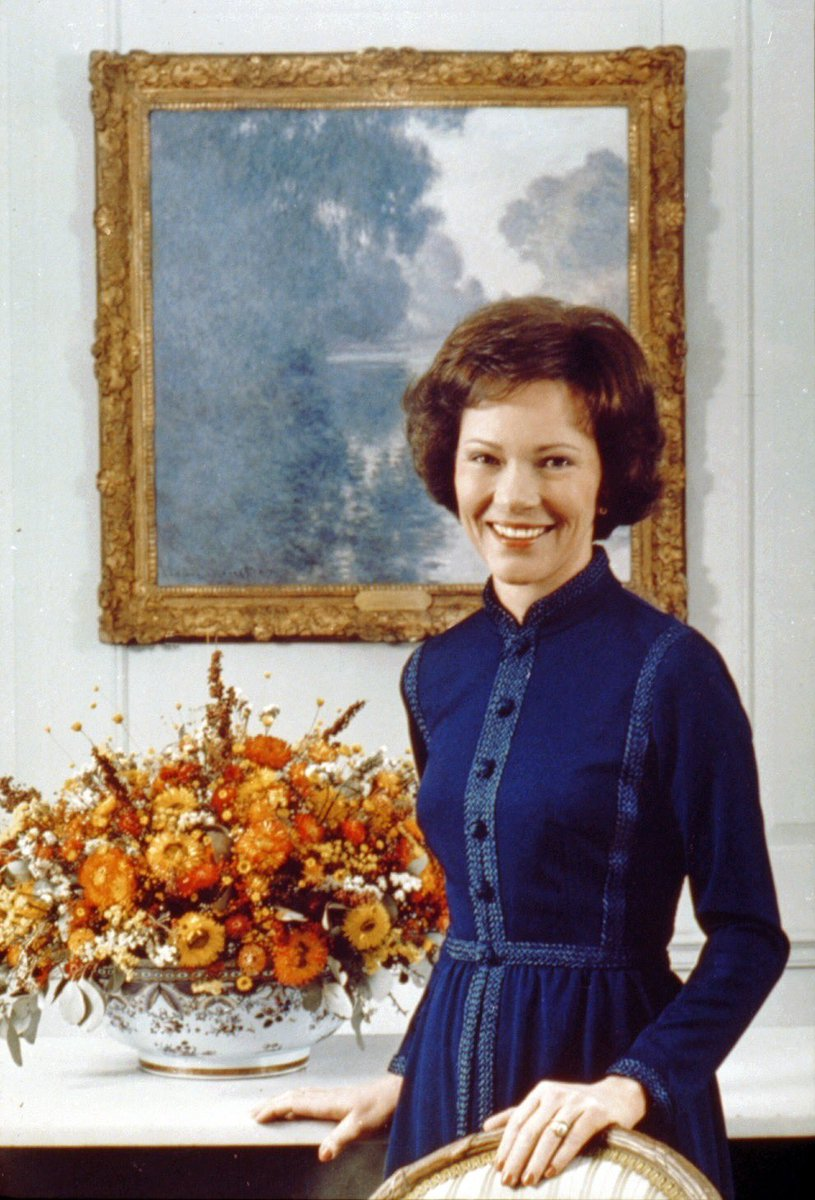 Former First Lady Rosalynn Smith Carter was born in Plains, GA #OnThisDay 92 years ago: Aug. 18, 1927.  She was First Lady of the United States 1977-81. #twitterstorians <br>http://pic.twitter.com/EpSlzdPhja