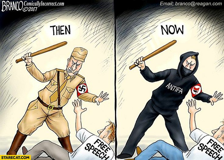 @eric_brett @VinceVicious1 @katpawsclaws Found a meme for you! Youre right Antifa and Nazis are very similar.