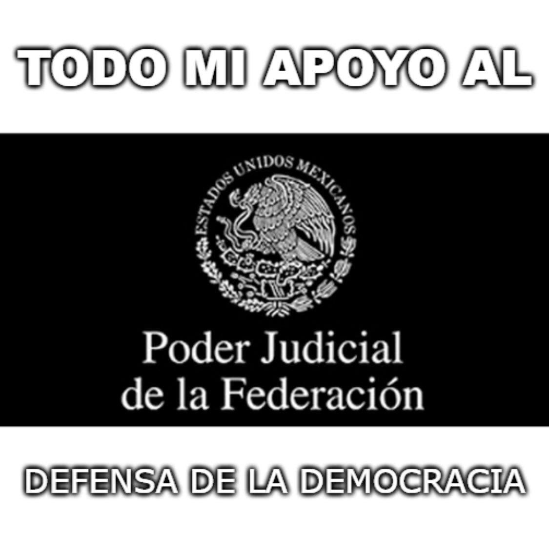 RT @acastagne: Todo mi apoyo al Poder Judicial de la Federación !!! https://t.co/tyJcg7O6nm