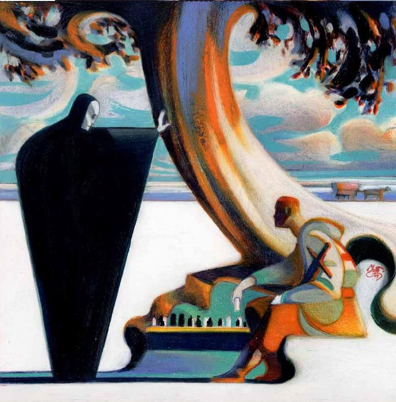 Italian artist, Lorenzo Mattotti—illustrations of THE SEVENTH SEAL, Dante's DIVINE COMEDY, HARRY POTTER, and ALICE IN WONDERLAND. <br>http://pic.twitter.com/r8weefE8gK