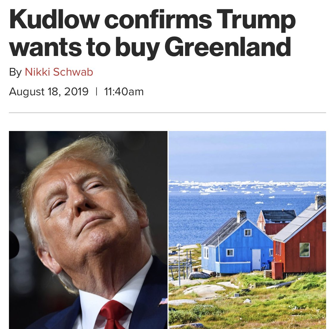 Thule Air Base - Trump to Purchase Greenland
