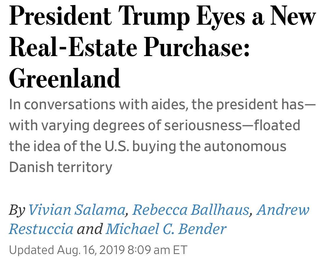 Thule Air Base - Trump to Buy Greenland