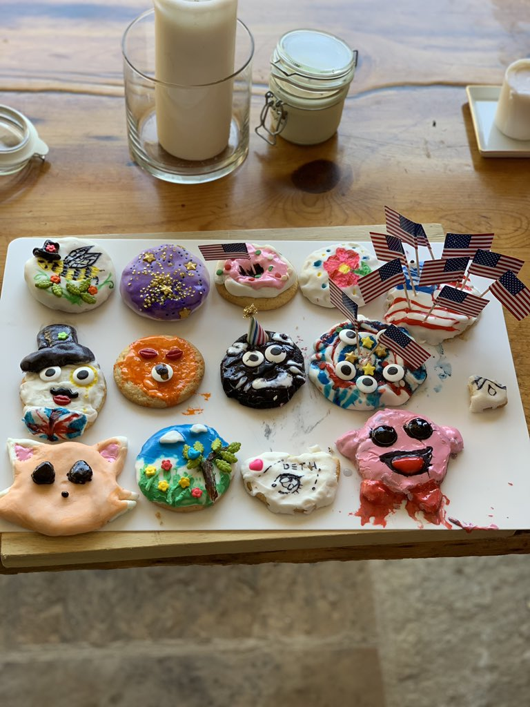 Cookie decorating contest with kids
