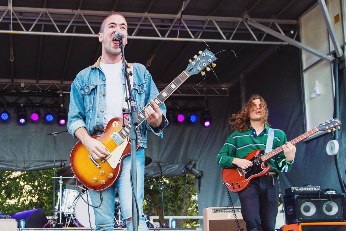 """Are we getting you #97XNBT tickets at noon + 5:30p every day this week? @WhiteReaperUSA says you """"might be right"""" 😉 📸: Erika Goldring/FilmMagic"""