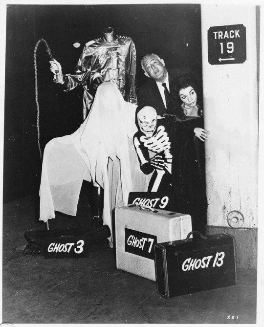 William Castle on the set of 13 GHOSTS (1960) #retrohorror