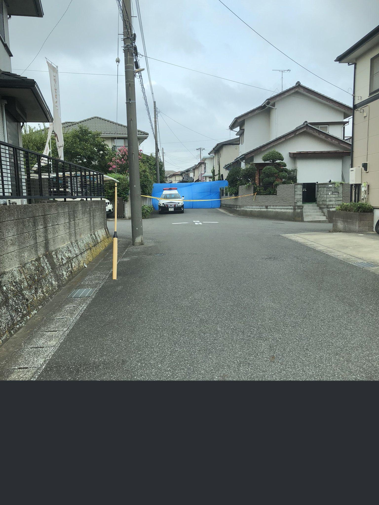 千葉市稲毛区萩台町で通り魔殺人未遂事件の現場画像
