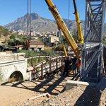 Image for the Tweet beginning: In demolizione il ponte sul