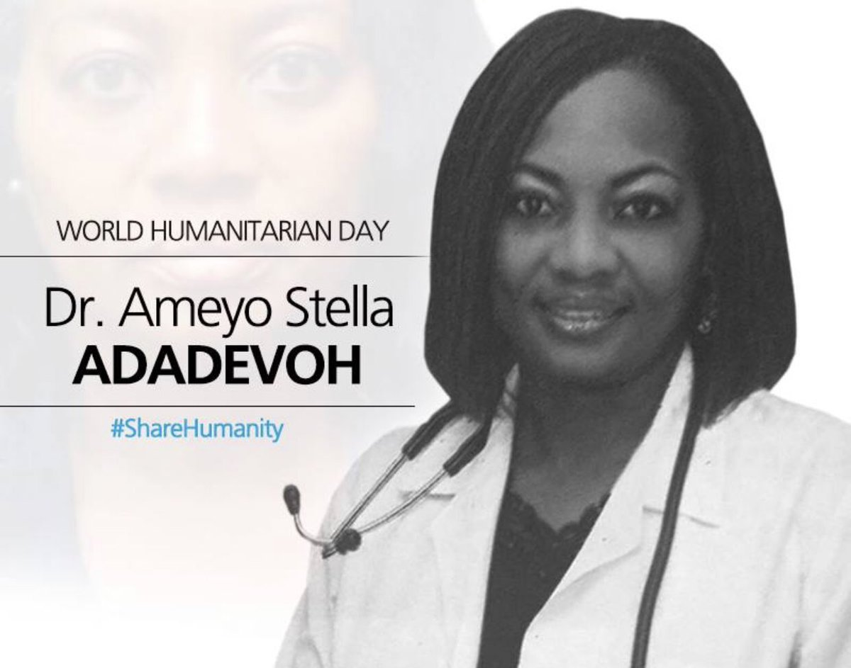IT'S 5 YEARS Today we remember Dr Adadevoh who sacrificed her life to fight Ebola in Nigeria    She passed away August 19, 2014. #DrAdadevoh   #WorldHumanitarianDay<br>http://pic.twitter.com/LYjxBGTbsv