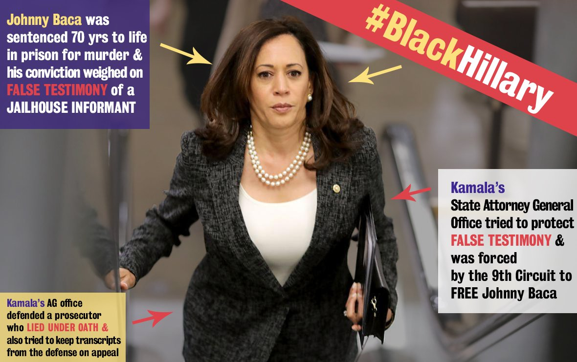 Only after multiple chances that Kamalas AG Office was given by the 9th Circuit, after 2 weeks did Kamalas Office reverse course entering an unopposed motion to summarily reverse judgement thereby releasing Baca from custody. #BlackHillary