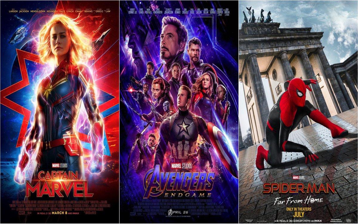 Update: Box Office (Worldwide): Captain Marvel - $1,128.3B Avengers: Endgame - $2,795.7B Spider-Man: Far From Home - $1,102.8B Total: + $5 BILLION INCREDIBLE ACHIEVEMENT 👏🏻.