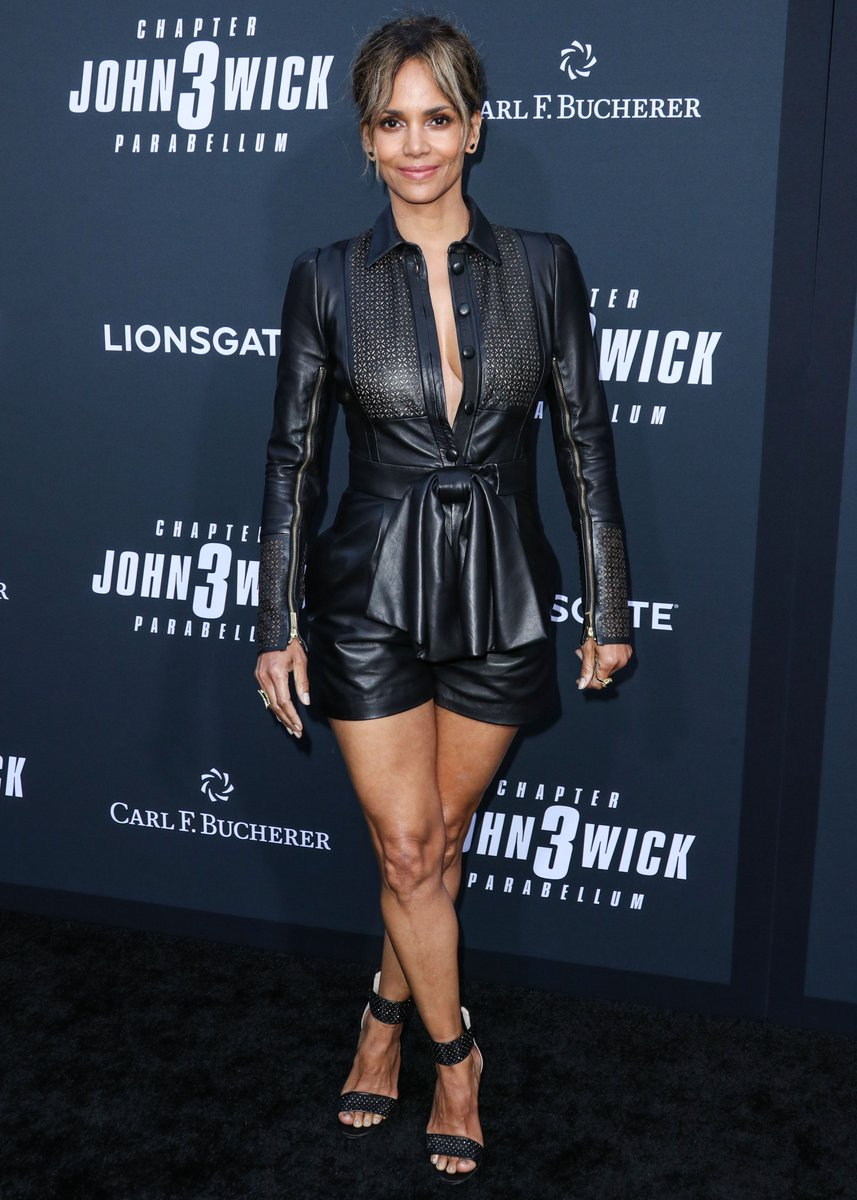 Hot actress Halle Berry attends the 'John Wick: Chapter 3 premiere in TCL Chinese Theatre, Hollywood.