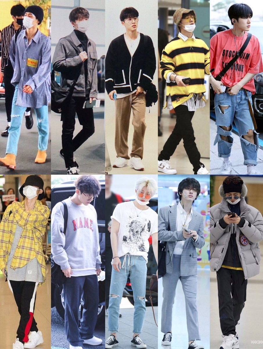 Hanbin's sense of style is on another level. It is bold and unique. He loves to wear the weirdest combination of colors and fashion pieces but he can still manage to slay it. I stan a fashion icon.   #FashionKingHanbin <br>http://pic.twitter.com/I0ipxyOClf