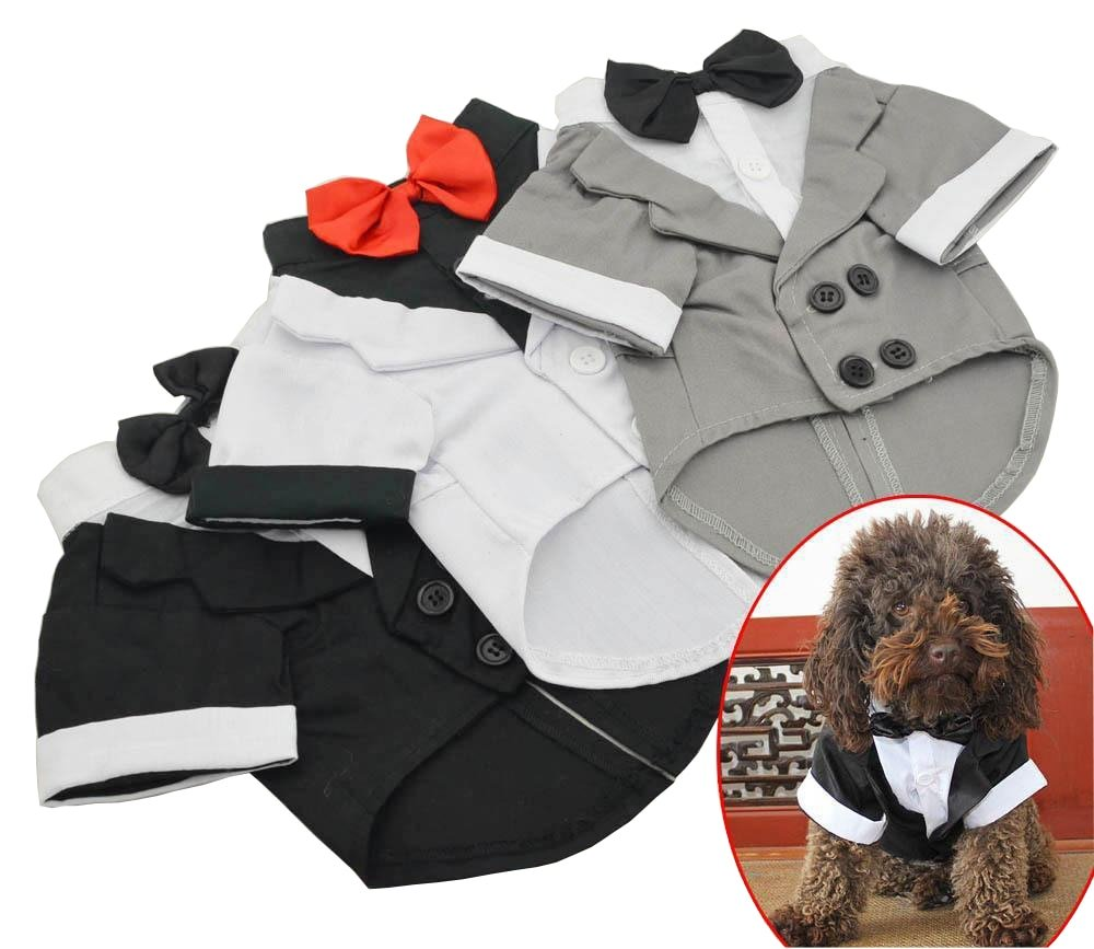 #hashtag2 Pet Clothes Puppy Shirt Dog Wedding Tuxedo Western Style Suit with Bow Tie Apparel Clothing For Dogs Coat Free Shipping-in Dog Coats & Jackets https://t.co/8BsbgZ4Q9e https://t.co/U2hMmPMRh6