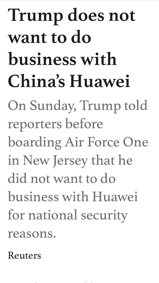 #Huawei is the issue where @POTUS and @swadeshimanch are on the same page, see! @rsprasad @nsitharaman @narendramodi @PiyushGoyal<br>http://pic.twitter.com/7x1sOeMRMz
