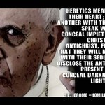 Image for the Tweet beginning: Heretics mean one thing in