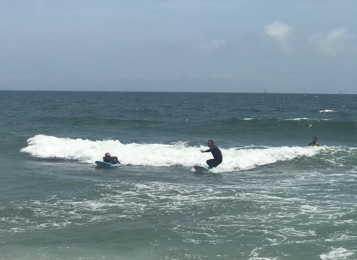 My surfing did not improve after this. At least @griffjenkins tried! @foxandfriends right now!