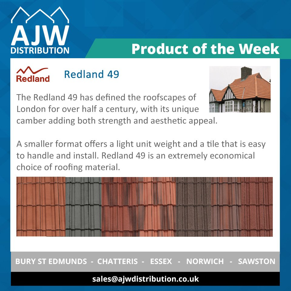 Ajw Distribution Ltd On Twitter Product Of The Week The Redland 49 Tile Is Easy To Handle And Install So Offers Both Speed And Economy As A Roofing Material Available In A