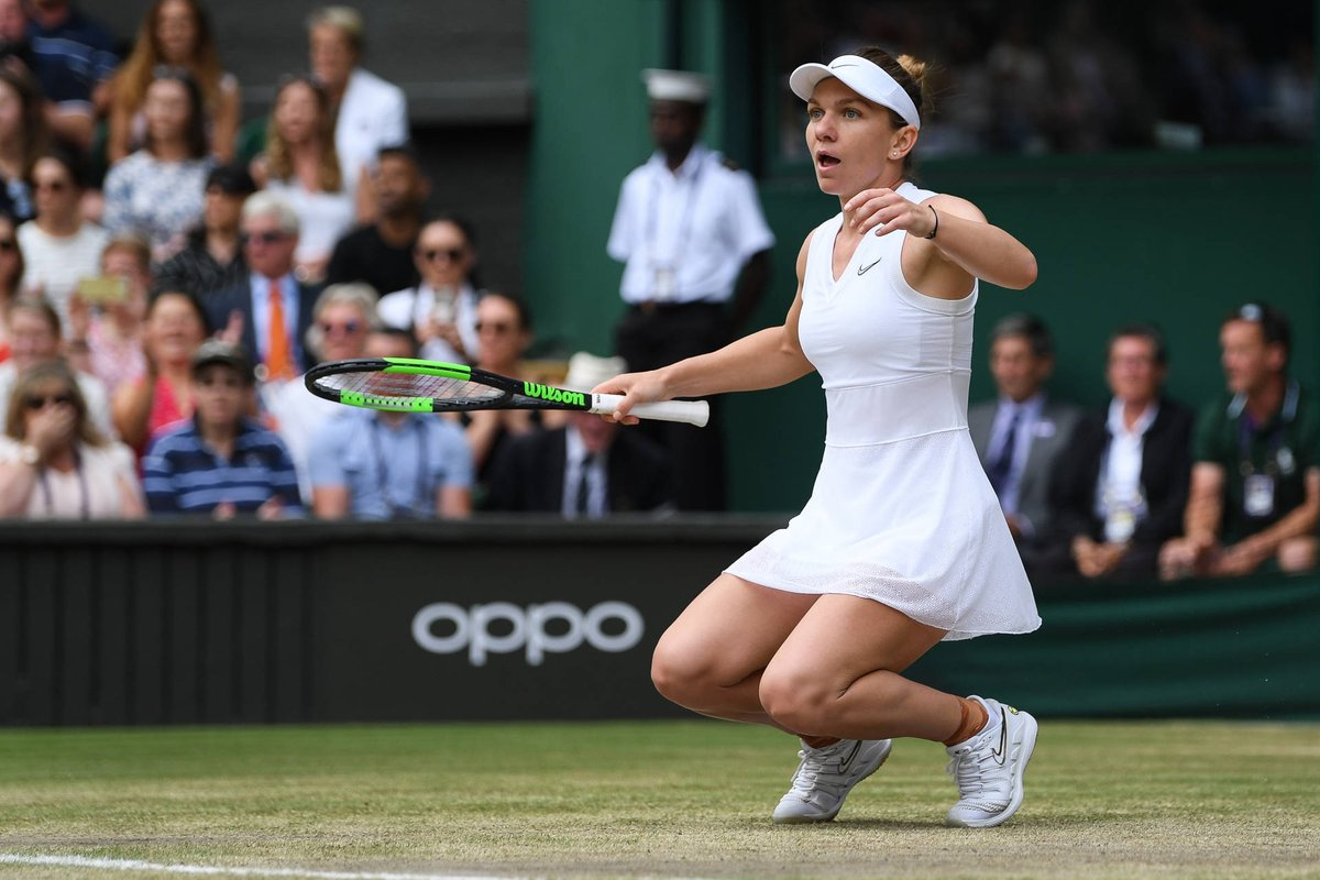 Its #WorldPhotographyDay, so heres a thread of some of the best photos from this year! 📸 Theres nothing like that winning feeling 😁 @Simona_Halep | #Wimbledon