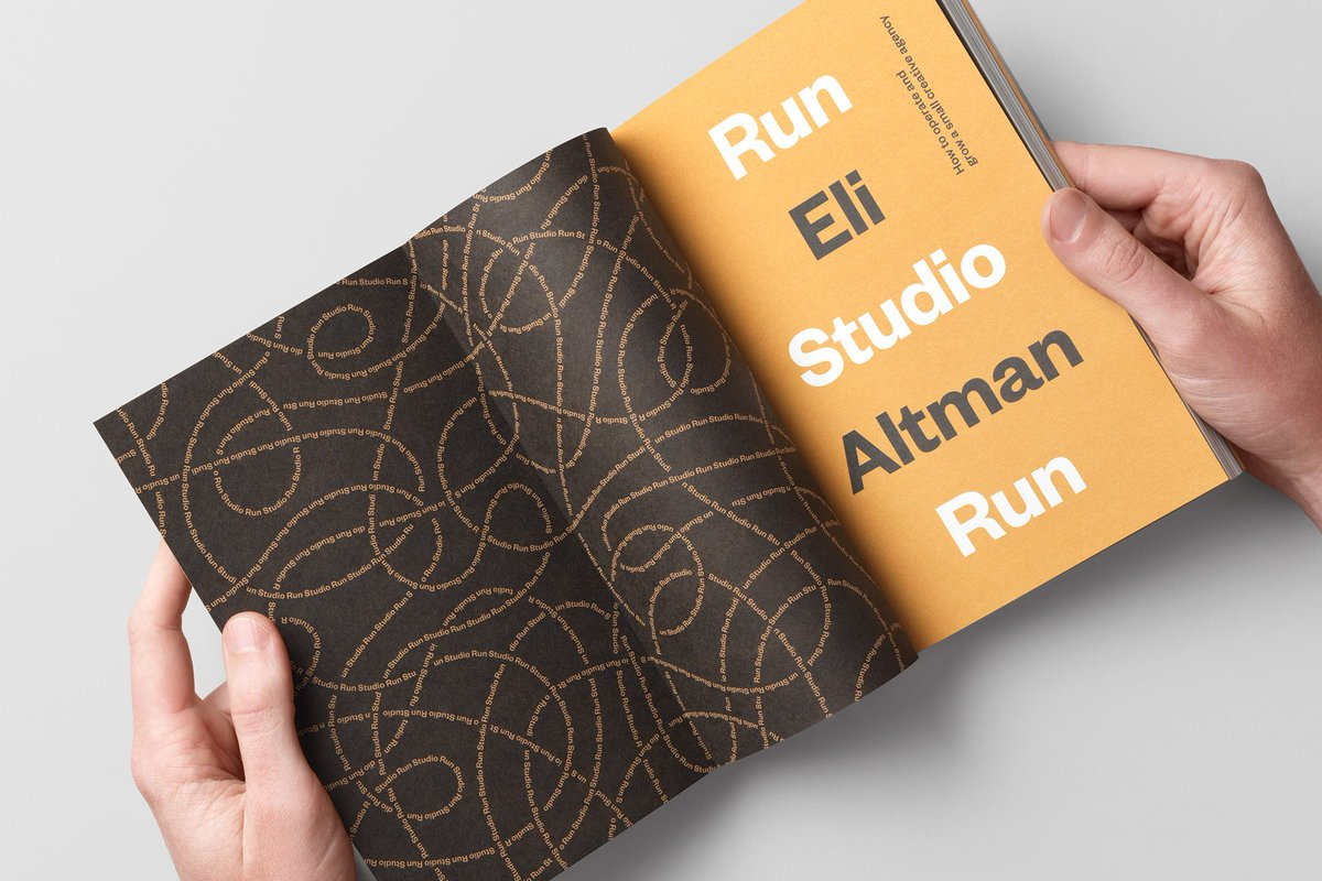 @theChrisDo @blackanchorbsc @EmilyRuthCohen And finally, after just browsing inside it, I finally figured out that its a bold complement to this stunning book from Eli Altman : Run Studio Run. A beautifully crafted book as well as a relevant content for creatives. Especially those who own business. #RunStudioRun