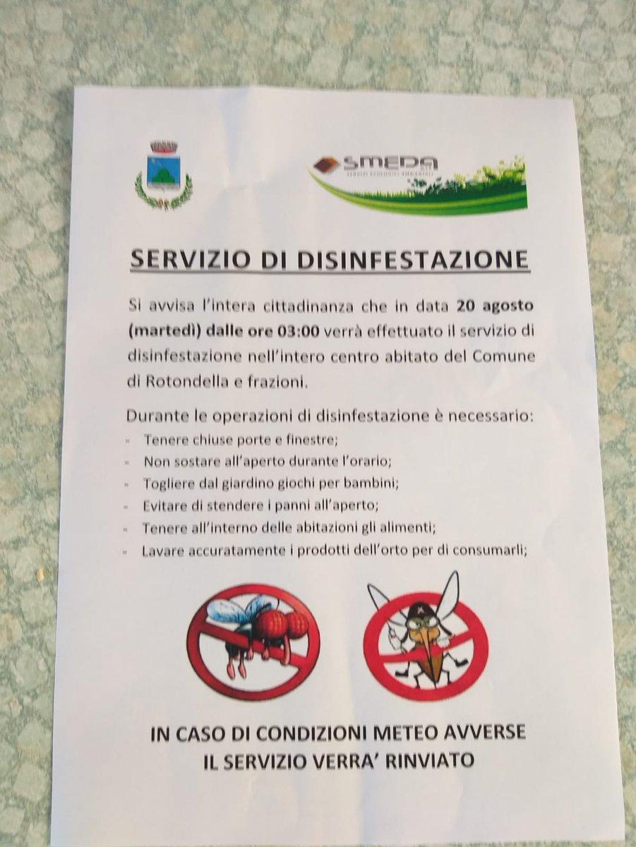 Servizio di disinfestazione #Rotondella https://t....