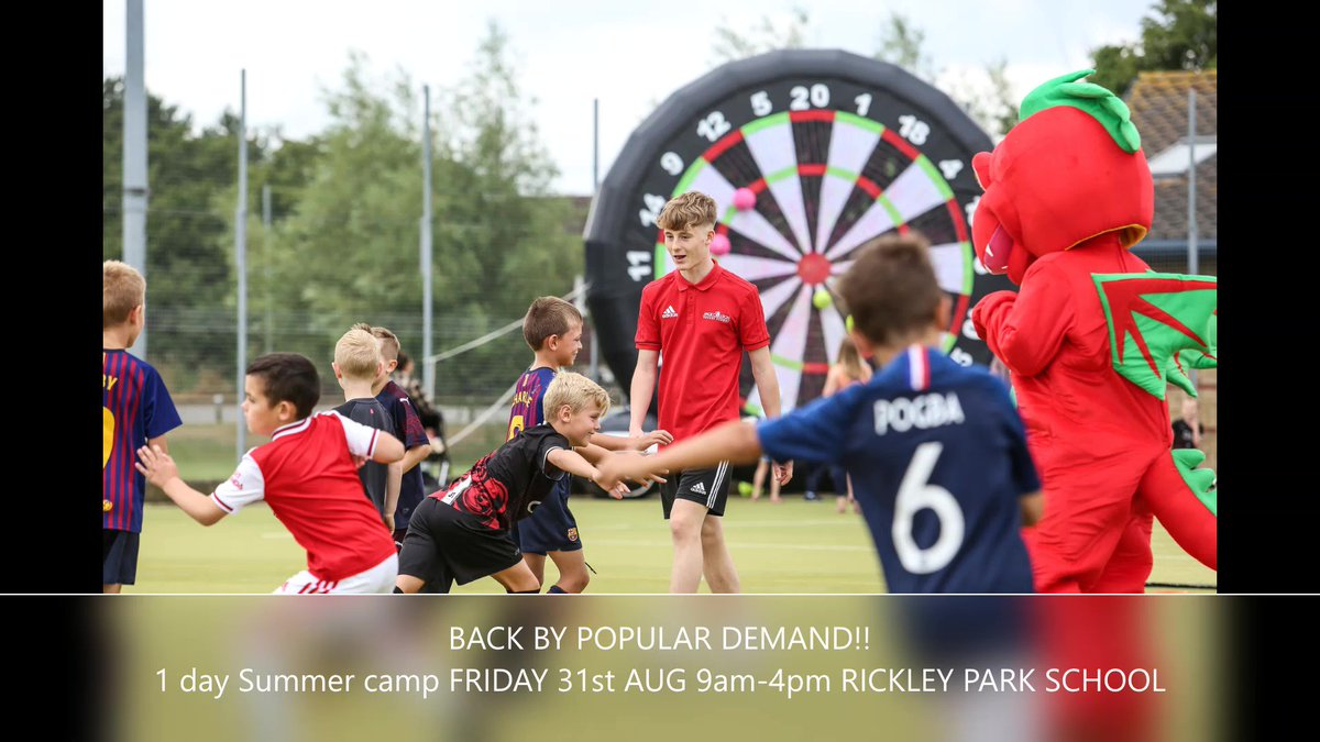 ⚽️⚽️ Exciting News for Bletchley ⚽️⚽️ 1 Day Spectacular at Rickley Park School from £12.50* 10-3pm for ages 5*-14 .. early and late pick up available ! Book online at jackcollisonsoccerschool.com #JCss #Football #Summer #Special