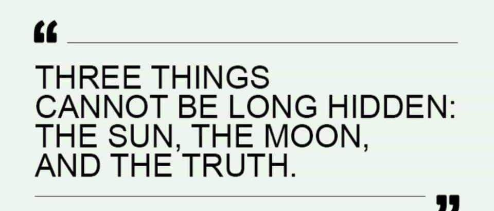 The Sun, The Moon and The Truth !#Truth