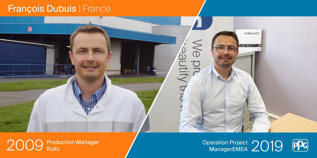 """Thanks to @PPG's confidence and resources, I have acquired strong manufacturing experience and have been able to fulfill different positions in France and abroad."" says François Dubuis from Ruitz, France. Check out how he's evolved!  #ModayMotivation #10yearchallenge <br>http://pic.twitter.com/R4bhFkxZWX"