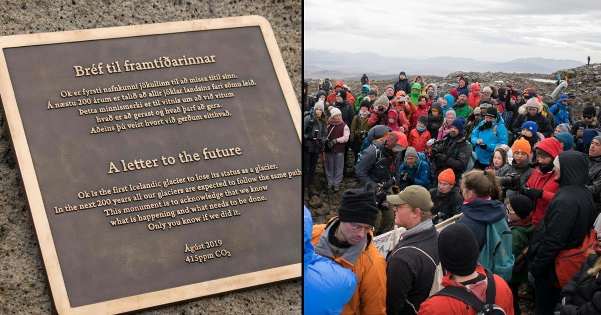 Iceland just held a funeral for its first ever glacier lost to climate change.  https://t.co/VmuXbLH0pV https://t.co/CCdASlreMo