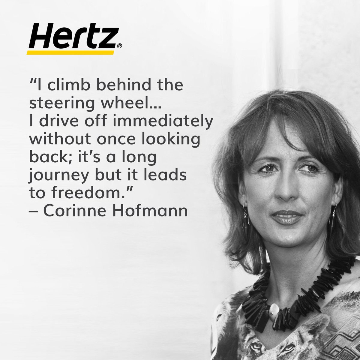 "test Twitter Media - ""I climb behind the steering wheel… I drive off immediately without once looking back; it's a long journey but it leads to freedom."" – Corinne Hofmann  https://t.co/AXf0IIWYgC  #Hertz #Travel #Wanderlust #Quote https://t.co/2Y4JaoWAhb"