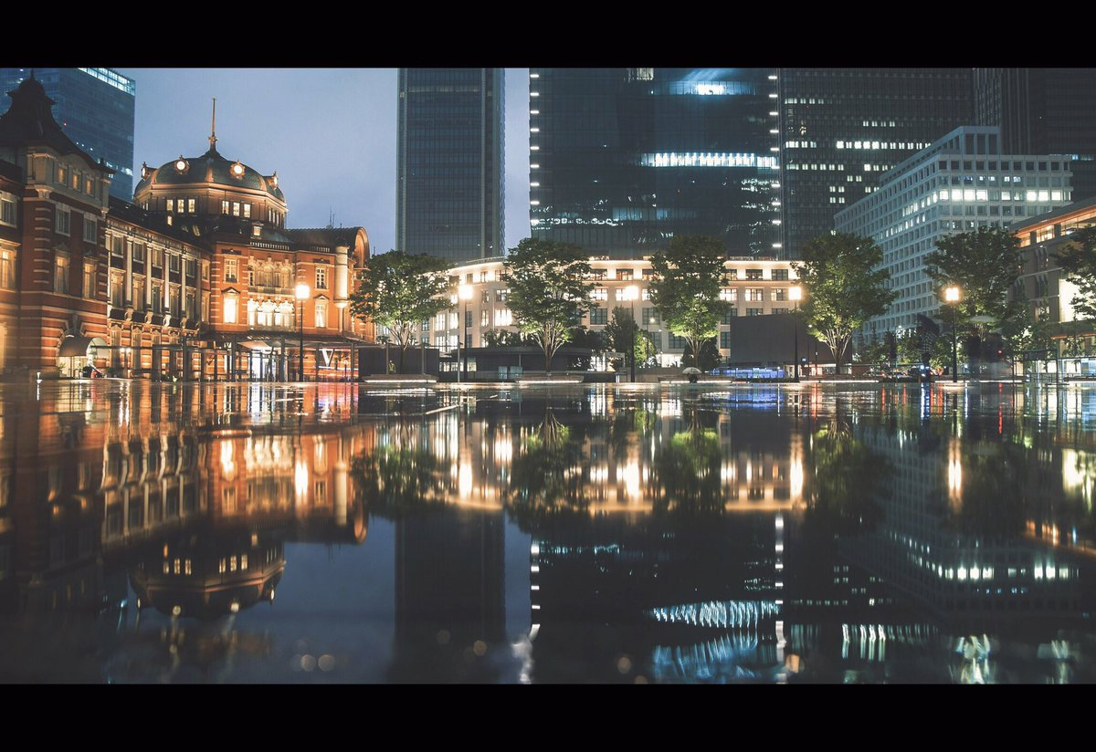 映画の世界に憧れて雨上がりの東京