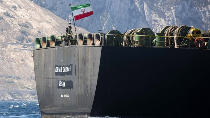 The Iranian oil tanker at the centre of a diplomatic dispute has departed from Gibraltar https://aje.io/7w3et