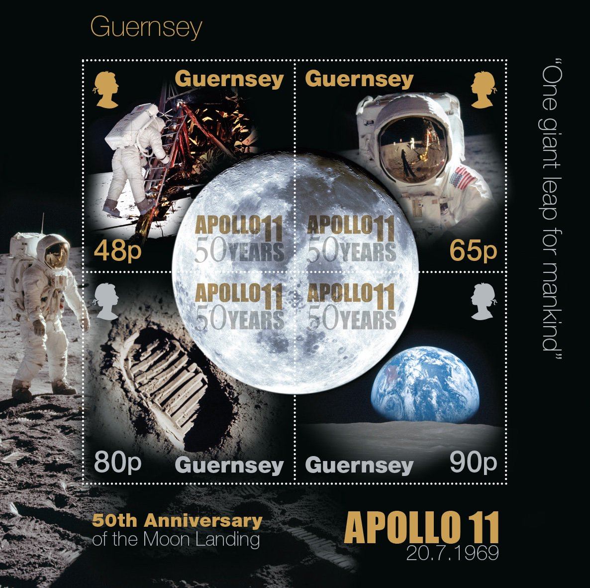 Delighted to celebrate #Apollo50th with our #moonlandings stamps, released last month. On 20 July 1969 at 22:56 EDT, history was made, as Neil Armstrong became the first person that had ever stepped on anything that had not existed on or originated from the Earth.<br>http://pic.twitter.com/vGLiY6xxDU