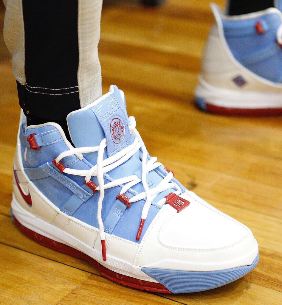 Kemba in the Nike LeBron 3 in Melbourne! #USABMNT #NBAKicks